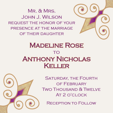 wedding invitations - Simple Fleur by Lisa Zizza McSweeney