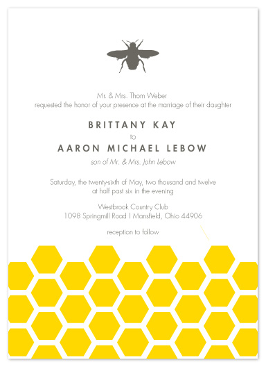 Wedding Invitations Honey Bee At Minted Com