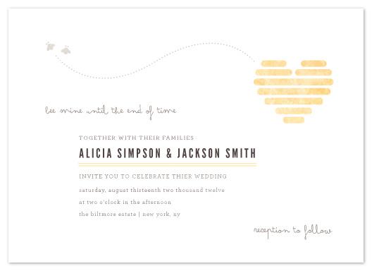 wedding invitations - Honeycomb Heart by Kristen Smith