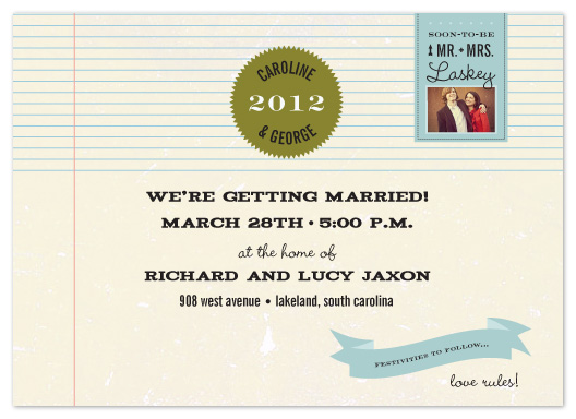 wedding invitations - love rules by Sara Hicks Malone