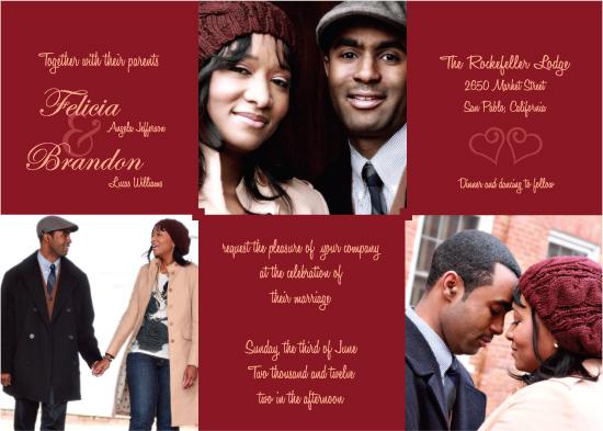 wedding invitations - Love Story In Three by Debb W
