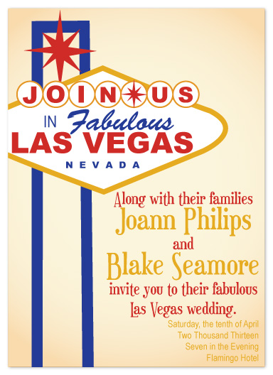 Wedding Invitations Las Vegas Nv Wedding Invitations Viva Las Vegas At Mintedcom