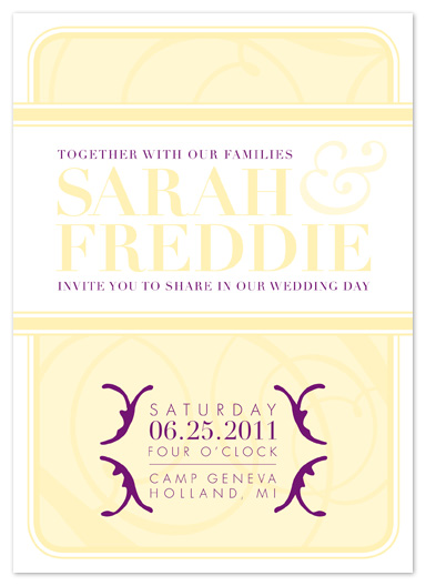 wedding invitations - Swirl and Sash by Sareph Design