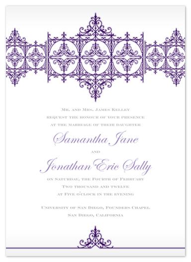 wedding invitations - Elegant Chic by Lindsey Parker