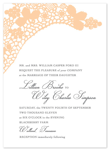 wedding invitations - Lillian by Erin Pfister
