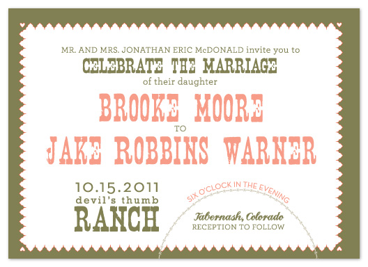 wedding invitations - Brooke by Erin Pfister