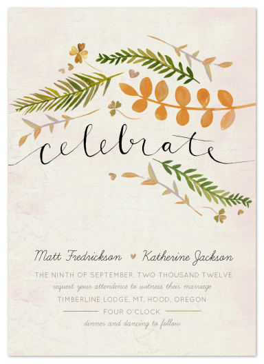 wedding invitations - leaf specimen by Krista Messer