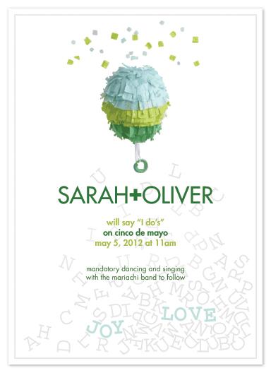 wedding invitations - confetti celebration by moca