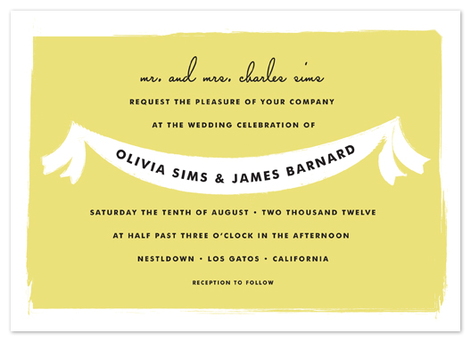 wedding invitations - summer fete by annie clark