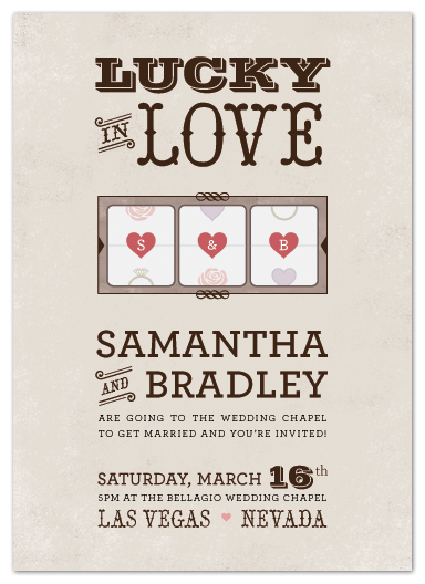 Wedding Invitations Lucky In Love By Ay Creative