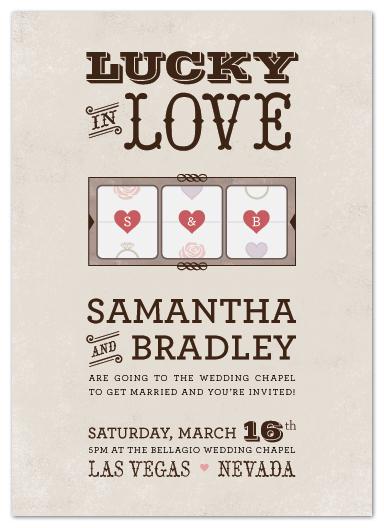 wedding invitations - Lucky in Love by Hooray Creative