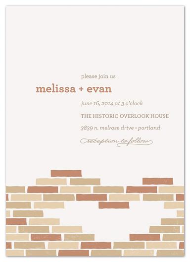 wedding invitations - Historic Brick by Melanie Severin