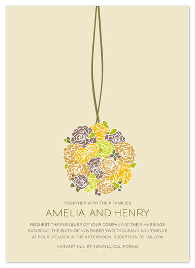 wedding invitations - Kissing Ball by Phoebe Wong-Oliveros