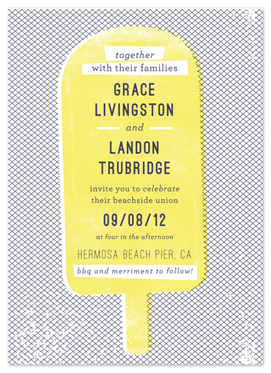 wedding invitations - summer love by Paper Rose