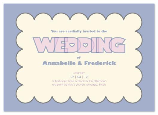 wedding invitations - Modern scallop border by Chamelle Designs