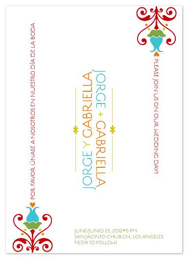 wedding invitations - Fiesta Flowers by Carol Fazio