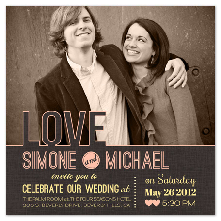 wedding invitations - LOVE by BeachPaperCo