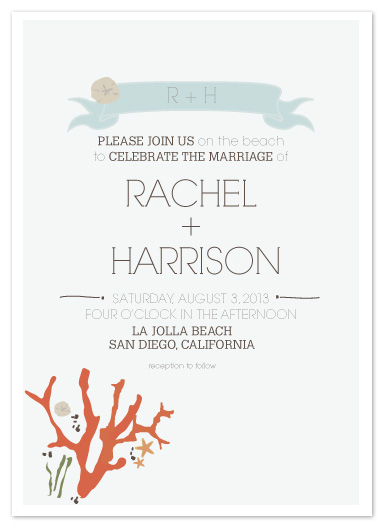 wedding invitations - Seaside Ceremony by AJCreative