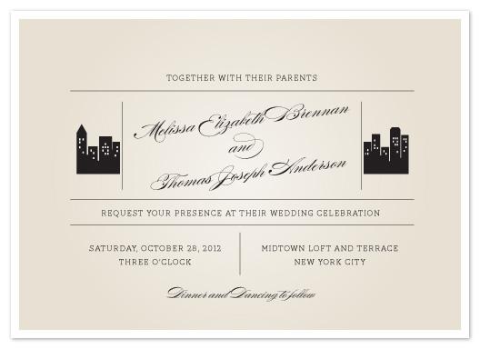 wedding invitations - Skyscraper by Sandra Picco Design