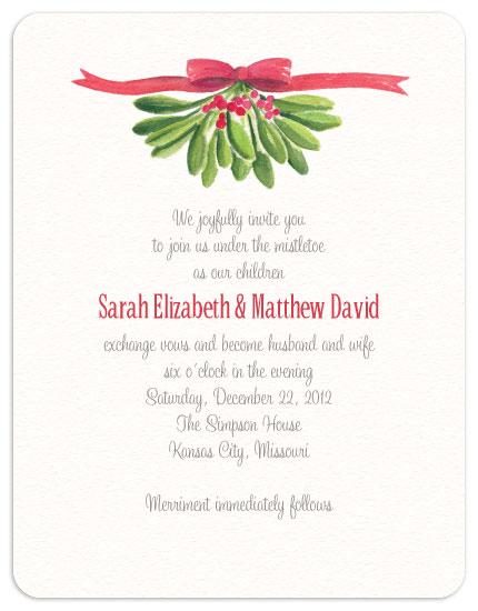 wedding invitations - Under the Mistletoe by Laura Bolter Design