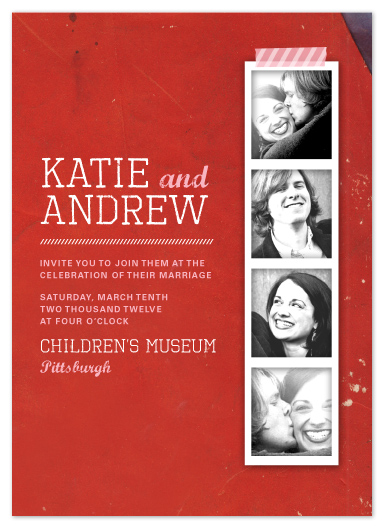 wedding invitations - Photo Strip by Kelly Nasuta