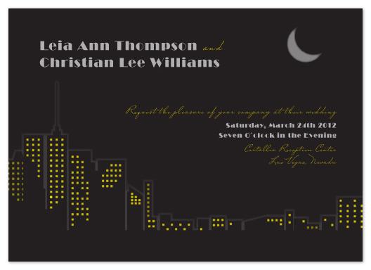 wedding invitations - New York Lights by Katherine Morgan