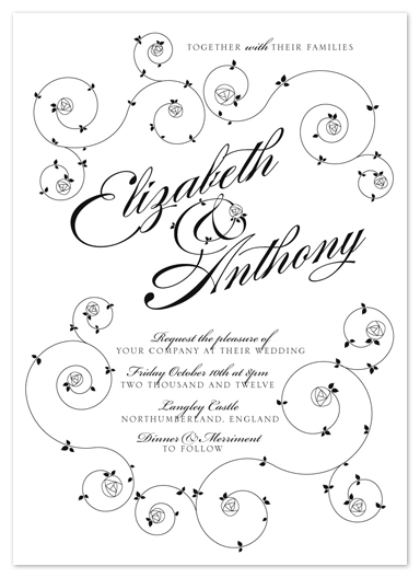 wedding invitations - English Rose by Rachel Mense