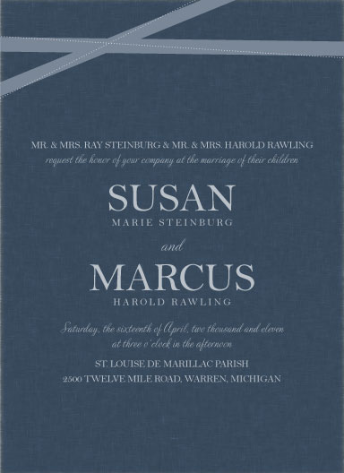 wedding invitations - Romantic Ribbon by The Paper Proposal