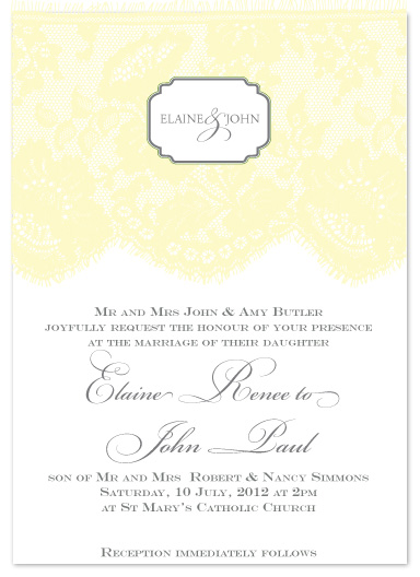 wedding invitations - Sunny Lace by Christiana Hudson
