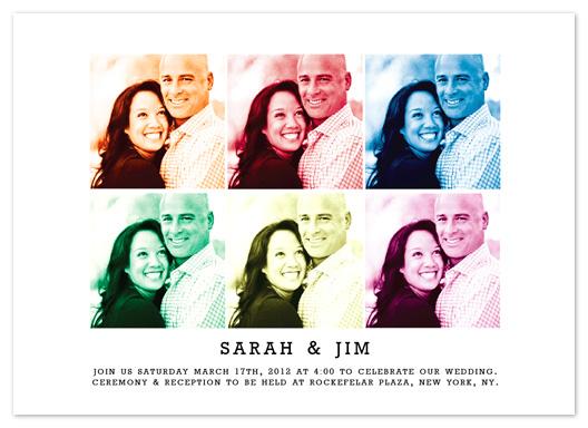 wedding invitations - Modern Pop Art by Simply Shira