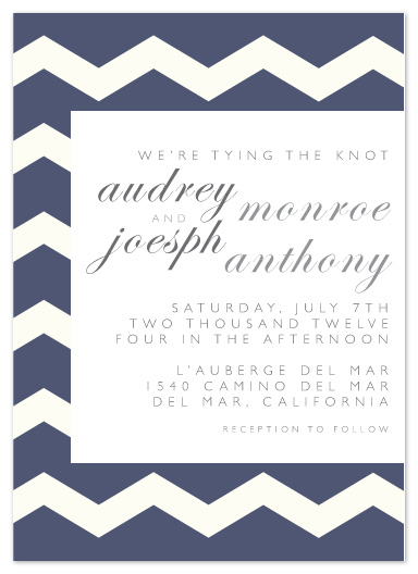 wedding invitations - Chevron Love by Christy de la Torre