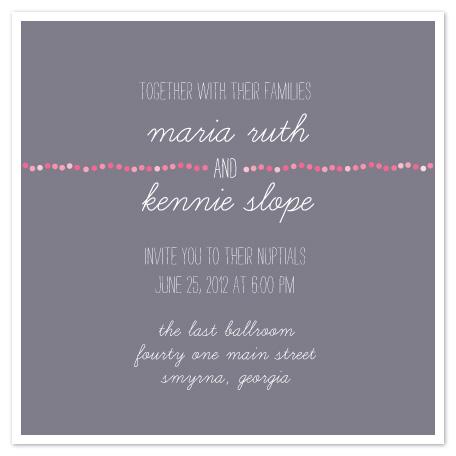wedding invitations - Pink Pearls by arbor corner studio
