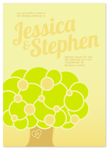 wedding invitations - Circle Tree by Simply Shira