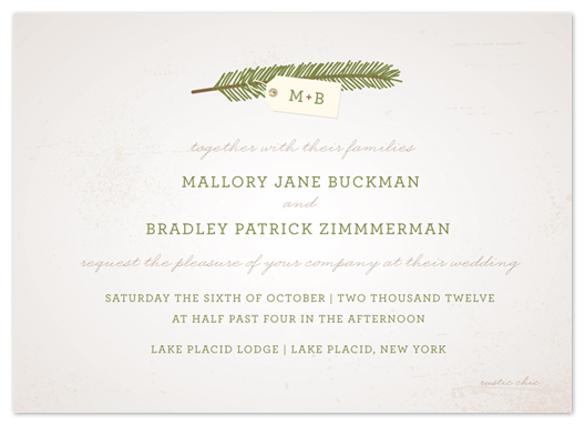 wedding invitations - evergreen by The Social Type