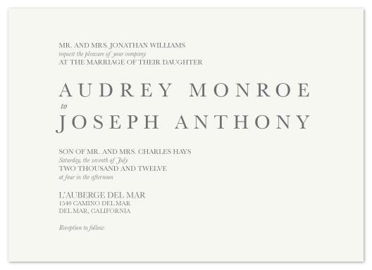 wedding invitations - Simple Text by Christy de la Torre