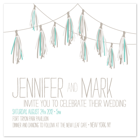 wedding invitations - PomPom by Max and Bunny