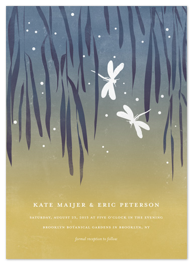 wedding invitations - Dragonflies by Snow and Ivy