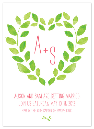 wedding invitations - Sweet Garden by Max and Bunny