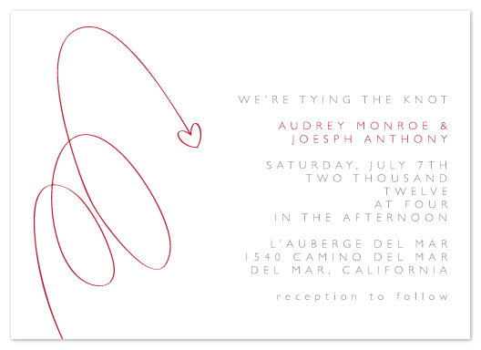 wedding invitations - Simple Loops by Christy de la Torre