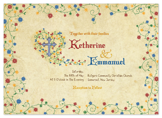 wedding invitations - Manuscript by Duha