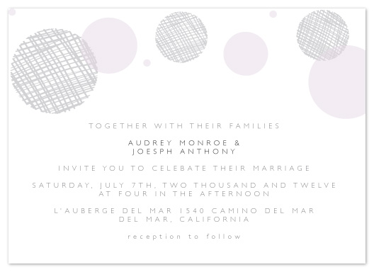 wedding invitations - Simple Circles by Christy de la Torre