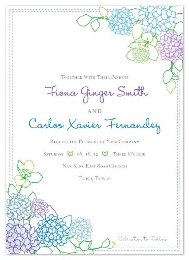 wedding invitations - Hydrangea Blossom by Duha
