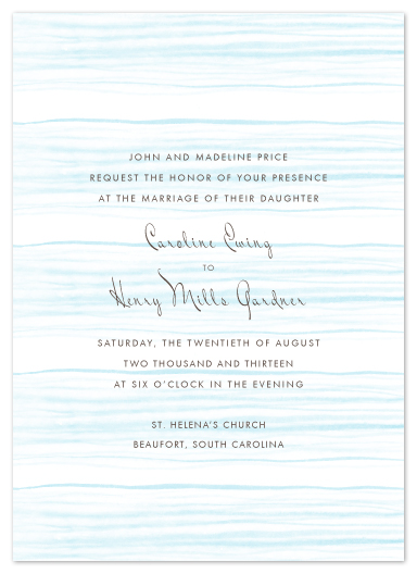 wedding invitations - Oceanic by beth perry DESIGN