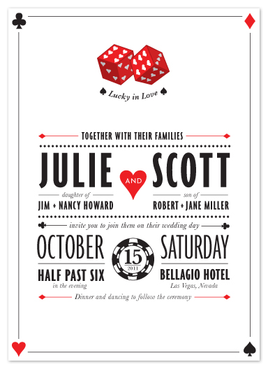 wedding invitations - Lucky In Love by Lindsay Weinberg