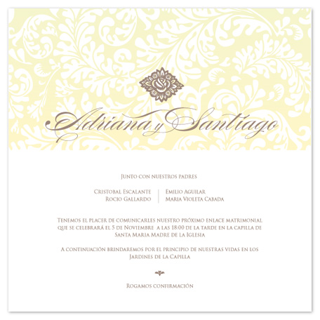 wedding invitations - organic experience by Ana Maria Villanueva