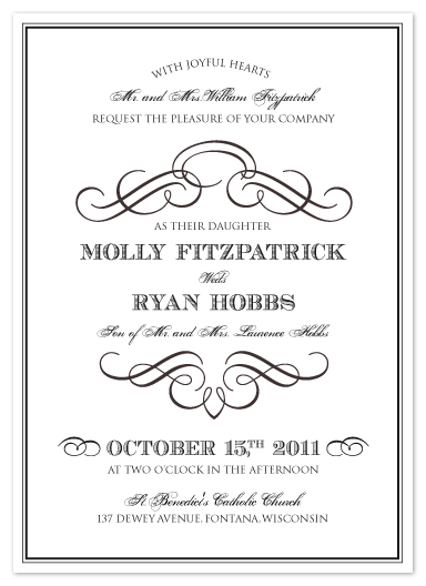 wedding invitations - Vintage Classic by Ashley Hobbs