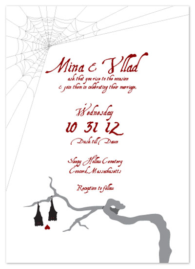 wedding invitations - Vampire Bat Wedding by KtRazz