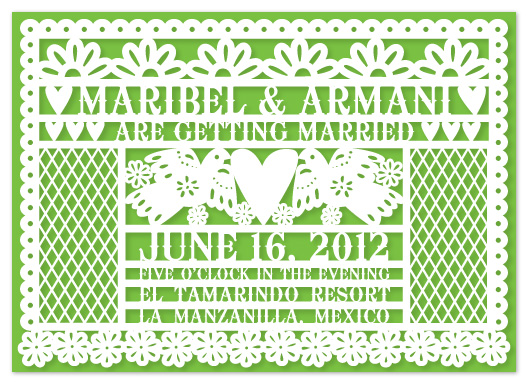 Wedding Invitations   Pretty Papel Picado By Kelly Maron Horvath