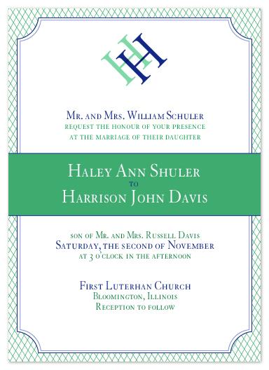 wedding invitations - Formal Affair by Ashley Hobbs