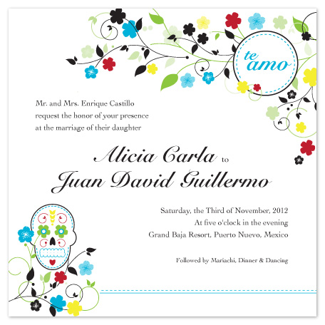 Wedding Invitations Dia De Los Muertos Wedding At Mintedcom - Day of the dead party invitation template